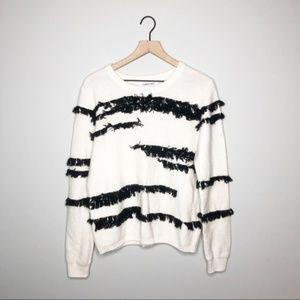NWT ELIZABETH AND JAMES Eyelash Fringe Sweater